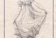 Backsidan överlappande klänningar
