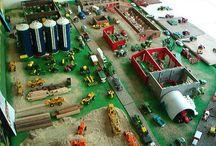 farm toy displays