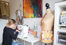 Creative Spaces / Interiors inspiration for organised, functional, beautiful work spaces.