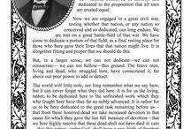 Civil War / Gettysburg Address