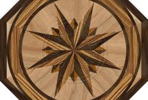 Octagon Hardwood Inlays / Simply striking!  Make your home unique with one of our wood medallions.