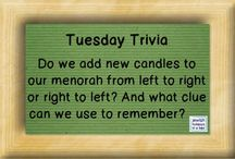 Play Jewish Trivia / Play our Jewish Trivia game with us. Learn fun tidbits about Jewish holidays, Israel, Jewish history, Jewish actors, Jewish sports figures, Hebrew, Yiddish, and more! / by JewishHolidaysInA Box.com