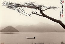 DON HONG-OAI / Chinese artist - uses photoghraphy to recreate rural landscapes and traditional paintings from classical CHINESE culture. Calligraphy details and opaque tonality are added to make the artworks more realistic