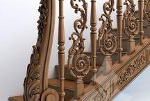 Classic staircase railings