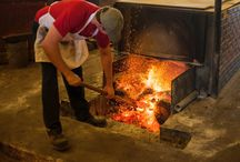 The Pits / Kreuz Market's famed brick barbecue smokers.