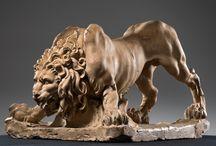 Sculptures Lions