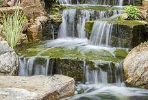 сад водопад