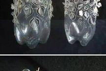 Dekorace z pet lahví