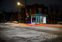 Montreal nuit hivernale / Prises de photographie nocturne