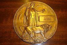 Unique c.1920 death plaque world war 1