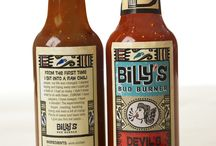 "Hot Sauce Branding / For the branding of Rick's ""Happy Hot Sauce"". / by Sarah Adams"