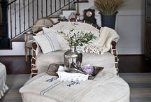 Slip covers , Linens and lace