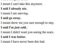 Hiding my pain :(