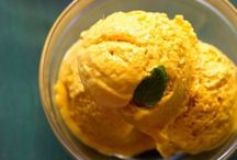 Mango Ice Cream / fooodiz is a Indian food items recipes site. you can find the all types of the recipes.seasonal recipes also.