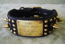 Antique dog collars. / Love the craftsmanship of these old dog collars!