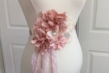 pregnancy fabric flowers