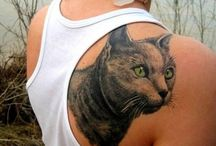 Pet tattoos / #Cats #Dogs #Kittens #Puppies #Tattoo #Tattoos #Tattooed #Skinart #Tat #Tattooart #Art #Design #Tattoodesign #Tatooisme #Tattooism #Ink #Inked