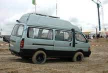 Our Toyota Hi-ace 4x4 Campervan / This is our 1994 Toyota Hi-ace 4wd DIY Campervan.   - 2.4 liter diesel engine - parttime 4x4 with low-gearing (like Hilux, LJ70) - Limited slip differential in rear (original Toyota) - High roof (original Toyota) - 175W solar panel, Victron charger - Optima Yellow Top battery - 65 liter compressor fridge with freezer inside - kitchen inside - bed size is 2mx1.5m