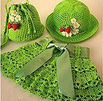 Girls crocheted skirt hat & purse