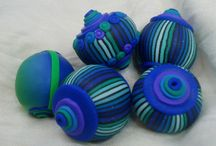 Big - Giant - Huge / These are decorative items made with polymer clay by me, most of them to be used as parts of mobiles or other decorative projects. Some of them can also be used as focal jewelry pieces.