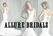 Allure Bridals / Allure Bridals Dresses represent the diverse embellishment needs of individual brides. While some of the wedding gowns come with heavy embellishments, some of the gowns feature minimal to no embellishments. The Allure wedding gowns are characterized by rhinestone embellishments, rushing, lace accents and draping details. However, in as much as every wedding gown is individually different all the designer dresses are simply gorgeous.  / by MissesDressy