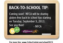 Back to School: Gluten-Free Tips / Check back often for new back to school tips from parents, for parents!  Visit www.CeliacCentral.org/school2013 for more back to school resources for parents of gluten-free kids.  / by Celiac Central NFCA