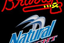 Natural Light with MLB Neon Signs