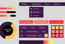 Flat design / FLAT webdesign by webTrendező / A webTrendező által létrehozott FLAT design alapon nyugvó látványvilág