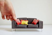 Scaled furniture / Old and new examples of mini and maxi furniture