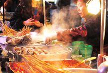 Thema food zone / Korean street market food / 광화문 지하 대형 식음