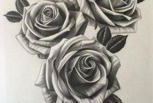 virág tetoválások