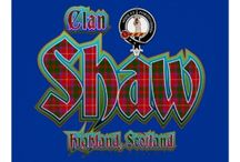 """Clan Shaw Roots / The Shaws trace their ancestry to the ancient Earls of Fife and are members of the Chattan Confederation.  The progenitor of the Highland clan is Shaw MacDuff, younger son of the Thane of Fife.  He was made keeper of Inverness Castle and his heirs were known as """"sons of the Thane.""""   A separate family of Shaws comes fm the Lowlands, the Shaws of Sauchie & Greenock.  My connection to this ancient clan (Highland?, Lowland?) comes through my 4th GGF, Hugh Bailey Shaw, b ca 1774 in PA."""
