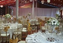 Romantic wedding in white with a touch of gold