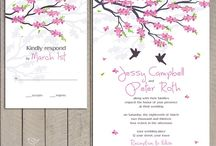 wedding invitation cherry blossom