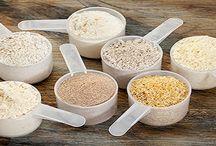 Koolhydraatarme producten / Op dit bord vindt u allerlei verschillende koolhydraatarme producten die u kunnen helpen met uw dieet.