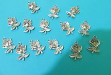 Flowers and butterflies - craft supplies / Here you can find some metal findings, flowers and butterflies. Low prices - sales - discount  - cheap prices for all the products at https://www.facebook.com/groups/1807038239550823/     Supplies and jewelry!