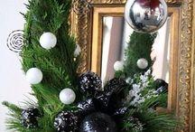 vánoce a podzimní dekorace