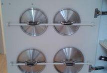 cómo guardar tapaderas de ollas