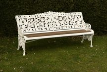 Coalbrookdale cast iron seats / A selection of Coalbrookdale seats being offered at auction on 20 May 14 at Summers Place Auctions