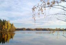 Lake Puula Hirvensalmi Finland / Elävä taulu, järvimaisema Puulalta, sama paikka ja aina niin erilainen. Always same place, always different view