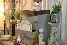 Cretive booth/home vignettes / Ideas for setting up vignettes in your home, booth or store