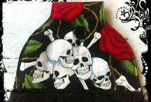 Gothic, Skulls towels