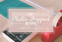 How to plastic-wrapped books