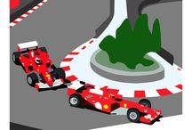 """Affiches courses """" Voiture """" / Publicité sur les compétitions automobiles """" Anciennes et Modernes """""""
