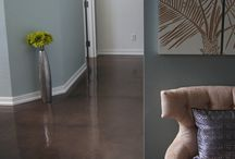 Stained Concrete / Stained concrete floors are great option when you want to keep your concrete floor and love the industrial, natural look of your concrete. Stained concrete floors can be water-based or acid-based. We love acid-stained concrete, as it shows off the natural character of the concrete, but also spruces it up, making it like artwork for any room. Beautiful addition to your bar, restaurant, show room, barn, retail, studio, office, and even warehouse.