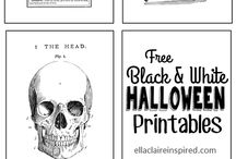 halloween and labels/printables