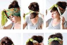 coiffure foulard