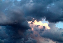 Clouds and sunset and sunrise