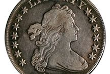 Bust Dollar (1794 - 1804) / Authorized by the Congress on April 2, 1792, the Silver Dollar had to weight 416 grains and have .8924 fineness. The first dollar was minted in 1794 - the Flowing Hair silver dollar. In 1795 it was replaced with the Draped Bust dollar, and the 1794 silver dollar is a very rare coin.