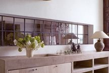 Steel framed windows / So industrial, so cool ... maybe could look good to open a steel framed window from the kitchen to the living room.
